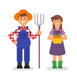 flat style of farmers vector image vector image