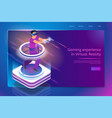 full immersion in 3d gaming web banner vector image