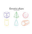 geometric shapes set 2 vector image