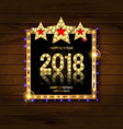 gold christmas and new year banner vector image vector image