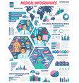 healthcare clinic doctors medical infographic vector image vector image