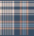 herringbone tartan check plaid in blue brown beige vector image vector image