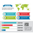 infographic whole world vector image