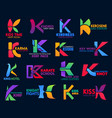 k icons corporate identity geometric flat color vector image vector image