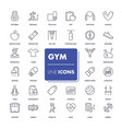 line icons set gym vector image vector image