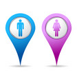 location woman men icon vector image