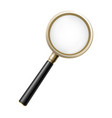 magnifying glass 3d magnifier isolated business vector image