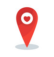 map pin heart vector image vector image