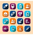 medical long shadow icons vector image