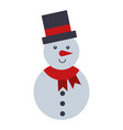 merry christmas snowman cute character vector image vector image