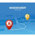 Navigation Concept Road City Map vector image vector image