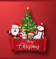 origami paper art christmas character and vector image