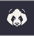 panda mascot icon vector image vector image