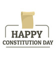 paper constitution day logo icon flat style vector image vector image