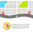 paved path on the road background vector image vector image