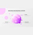 premium quality 3 option circle marketing analytic vector image