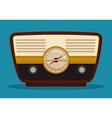 Radio vintage design vector image