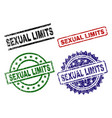 scratched textured sexual limits seal stamps vector image vector image