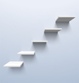 shelves in shape stairs vector image vector image