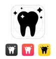 Shiny tooth icon vector image vector image