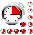 simple timers vector image vector image