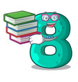 student with book number eight volume logo the vector image