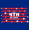 stylish 4th july flag banner design vector image vector image