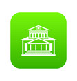 theater building icon digital green vector image