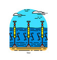 tidal power plant form hydropower vector image