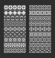 traditional ornamental elements for brushes vector image vector image
