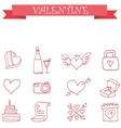 valentine icon collection stock vector image vector image