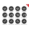 Voice waves icons on white background vector image vector image
