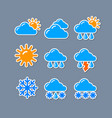 weather report forecas stickers vector image