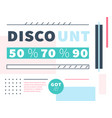 web design discount in modern style vector image
