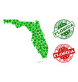 welcome composition of map of florida state and vector image