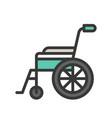 wheelchair medical equipment icon set vector image vector image