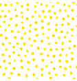 yellow watercolor hand painted polka dot seamless vector image