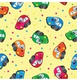 Seamless toy car background for baby boy vector image