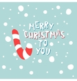 Christmas candy on a blue background with vector image