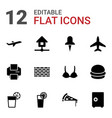 12 solid icons vector image vector image