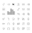 33 audio icons vector image vector image