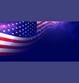 american flag with firework display background vector image vector image