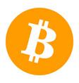 bitcoin orange crypto logo isolated gold bit coin vector image vector image