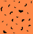 black flying bats silhouettes seamless vector image vector image