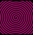 black purple round abstract vortex hypnotic vector image