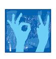 blue hands vector image