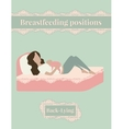 Breastfeed position mother with baby lying on the vector image vector image