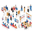 Business education and coaching isometric icons vector image
