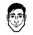 businessman in suit head icon vector image vector image