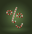 Candy cane excited face vector image vector image